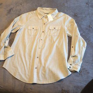 Christopher & Banks Blouse 3/4 Sleeves Size L   SG